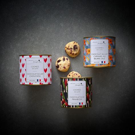 coffret 3 boites de cookies