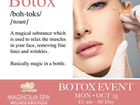 October Botox Event