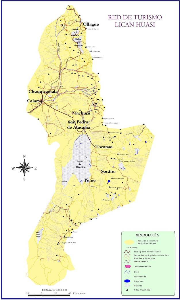 Mapa Red Turismo Lican Huasi