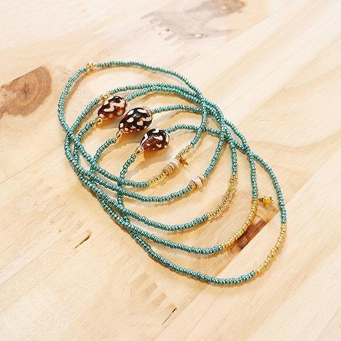 Bracelets LILI et LOLA Turquoise foncé