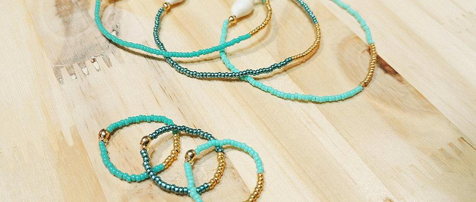 Bagues et bracelets LILI COULEUR Bleu