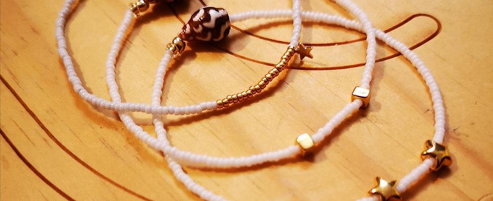 Bracelets LOVE Trio Blanc