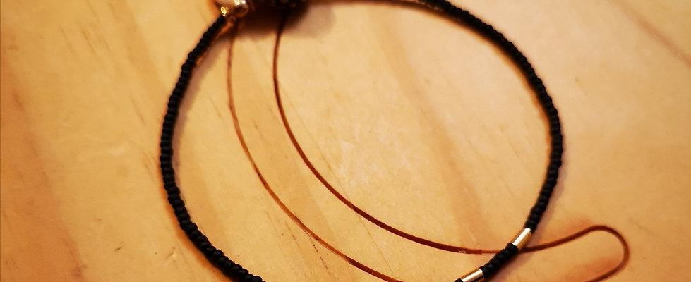 Bracelet GOLD Feel Noir mat