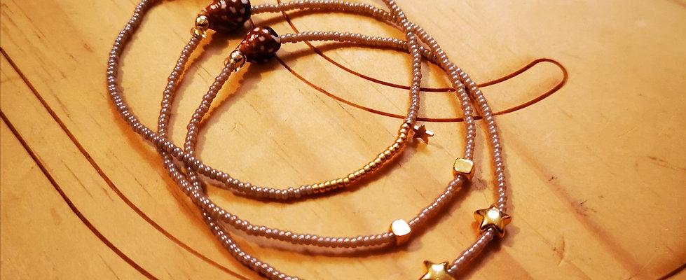 Bracelets LOVE Trio Beige foncé