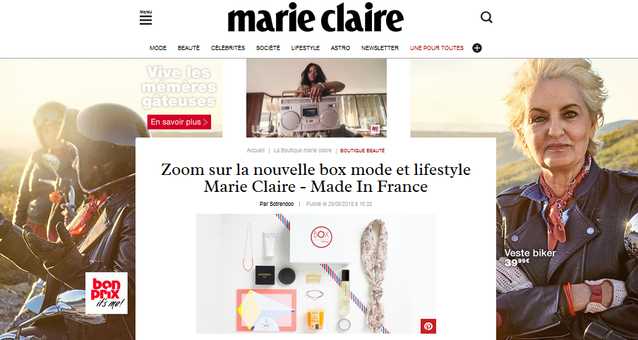 MARIE CLAIRE X LINDA CLARINI BIJIOUX BOX MADE IN FRANCE MODE & LIFESTYLE CREATRICE BAYONNE