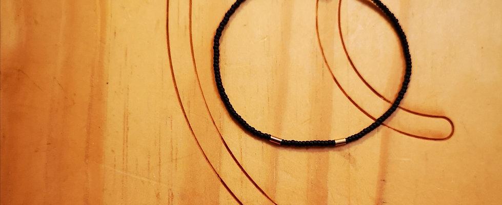 Bracelet GOLD Love Noir mat