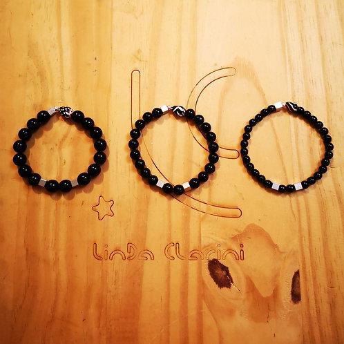 Bracelets pour hommes BOLD 6, 8, 10mm Argenté Noir