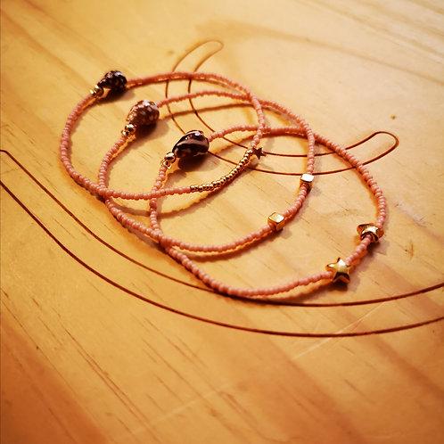 Bracelets LOVE Trio Rose clair
