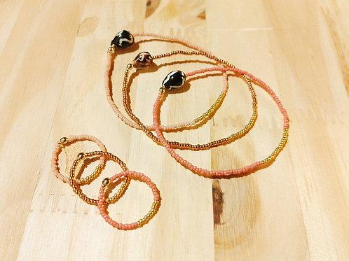 Bagues et Bracelets LILI COULEUR rose