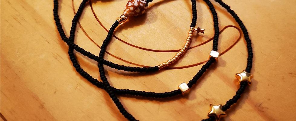 Bracelets LOVE Trio Noir mat