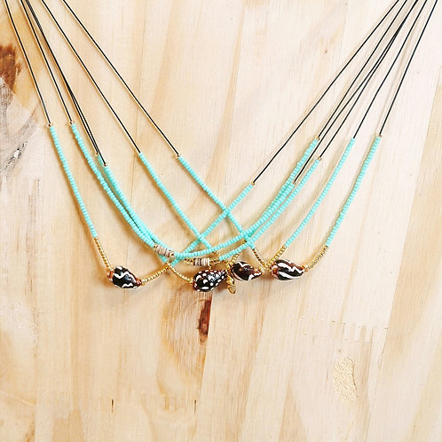 Colliers LILI et LOLA Turquoise clair