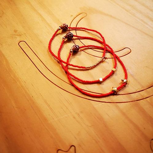 Bracelets LOVE Trio Corail rouge