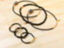 Trio de bracelets LILI COULEUR Noir Linda Clarini Bijoux créateur