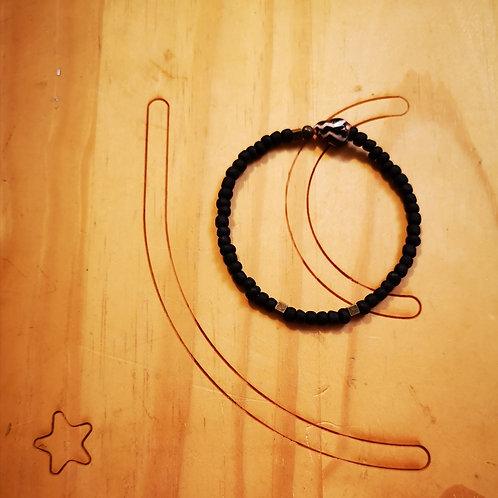 Bracelet pour Hommes laiton brut BOLD Mat Noir