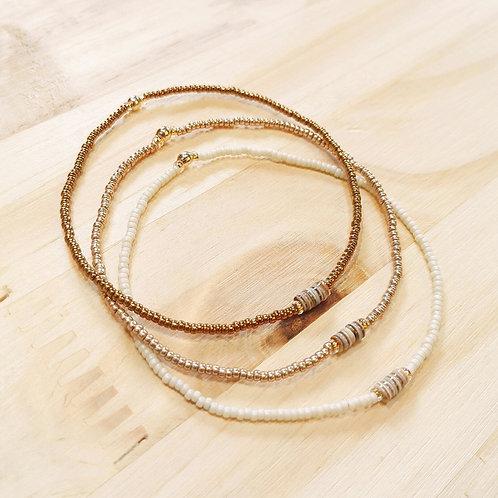 Bracelets LOLA Crème Or light et Or cuivré