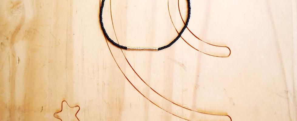 Bracelet GOLD Couleur Noir mat