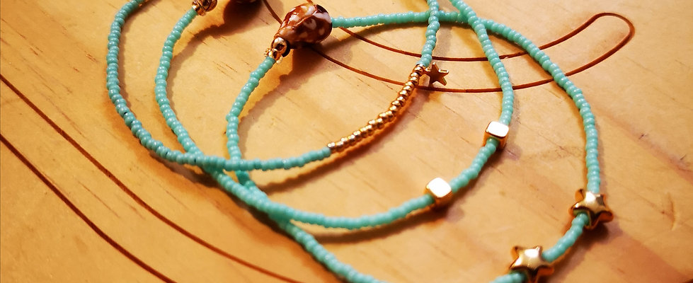 Bracelets LOVE Trio Turquoise clair