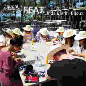 Ateliers DIY professionnels pour le lancement de la gamme solaire de Caudalie Ocean Protect animé par Linda Clarini Bijoux en coquillages.