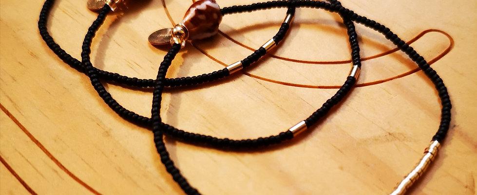 Bracelets GOLD Trio Noir mat