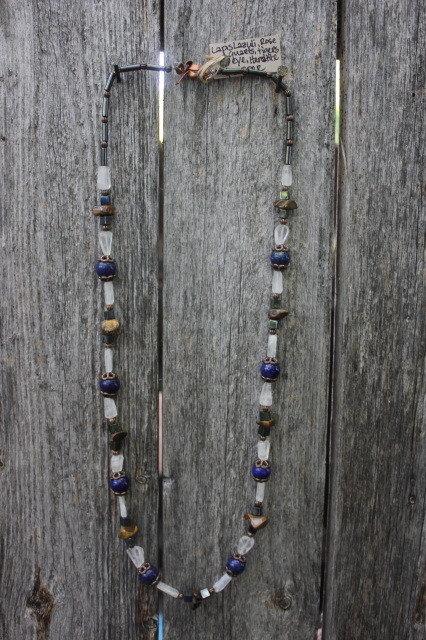 Lapis Lazuli, Rose Quartz, Tiger's Eye & Hematite Necklace