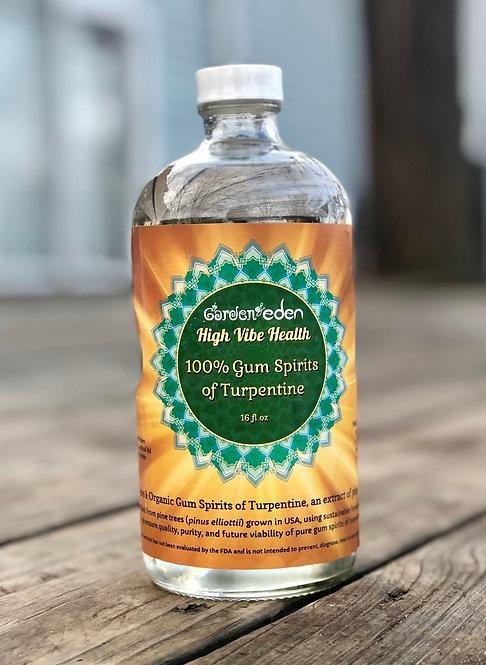 16 oz 100% Gum Spirits of Turpentine