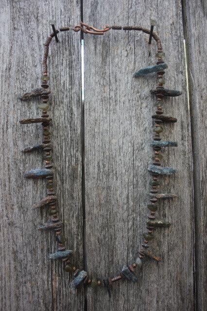Kyanite & Labradorite on Copper Necklace