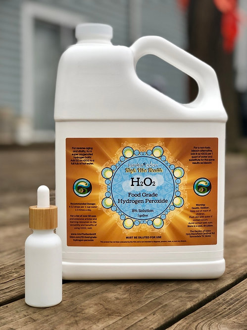 1 gallon 35% Diluted to 8% Food Grade Hydrogen Peroxide