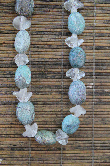 Turquoise Colored Stone Necklace
