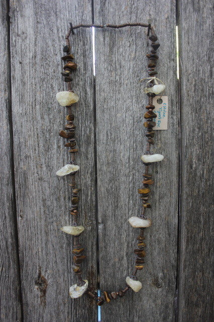 Tiger's Eye & Citrine on Copper Necklace
