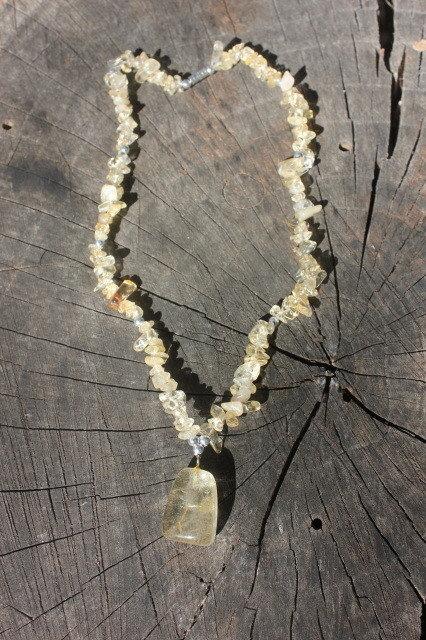 Polished Citrine Necklace