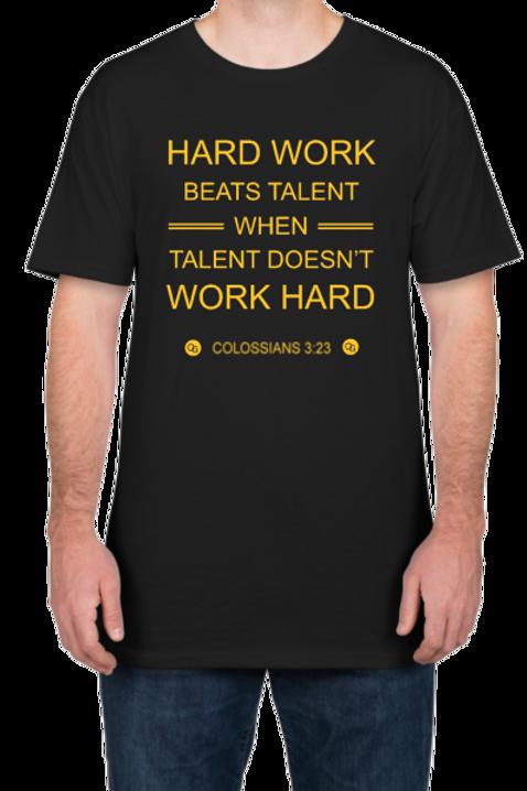 Hard Work Long Body Men's Shirt