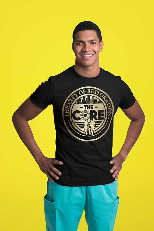 The CORE Official T-Shirt w/ Gold Logo (Unisex Tee)