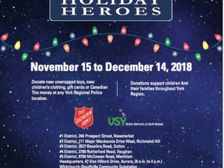 Holiday Heroes Toy Drive!
