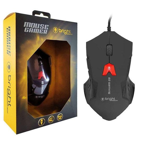Mouse Gamer 6 Botões 2400 Dpi 6D Gaming Bright 0462