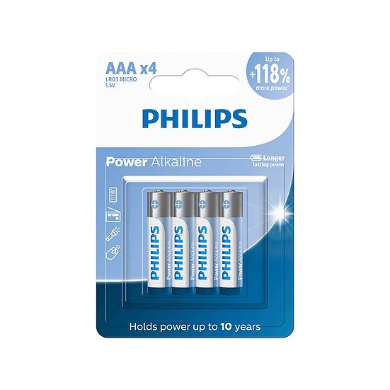 Kit 8 Pilhas Philips Alcalina AAA