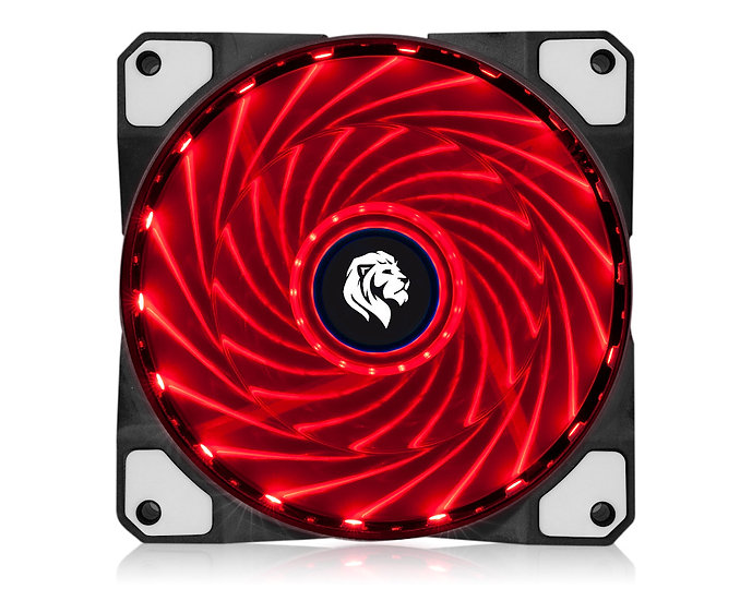 Cooler fan 120mm vermelho 1600rpm fc1300 - hayom