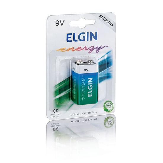 Kit 2 Baterias Elgin Alcalina 6LR61 9V