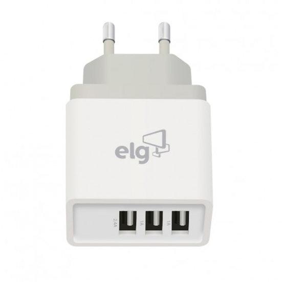 Carregador de parede ELG WC3S 3.4A 3 SAIDAS USB