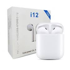 Fone Sem Fio Bluetooth i12 TWS Android Ios - Branco