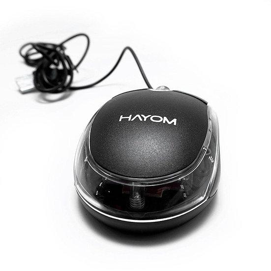 Mouse Hayom MU2914, USB, 1200 DPI, Preto