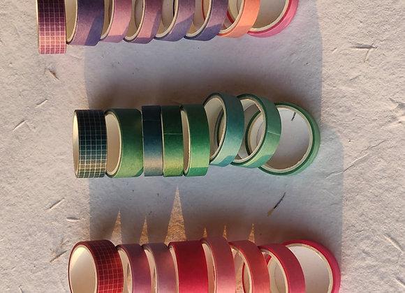 Gradient Washi tape set of 8