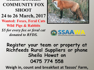 Community Fox Shoot 24-26 March