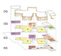 Landeskinderheim Axonometrie