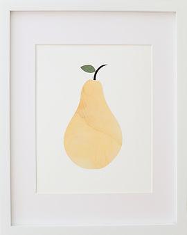 Fine art pear print artwork