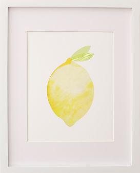 Fine art lemon print artwork