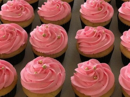 Cupcakes in choice of strawberry, chocolate, vanilla, cookies & cream
