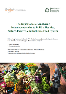 The Importance of Analyzing Interdependencies to Build a Healthy, Nature-Positive, and Inclusive Food System