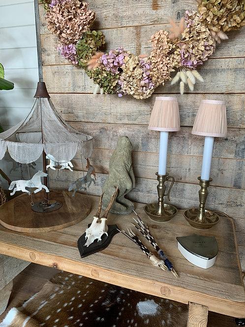 Candleholder Lamps - Pair