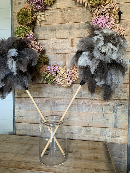 Ostrich feather duster - Natural