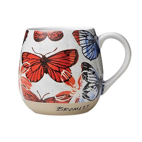 Red Butterflies - Hug Me Mug